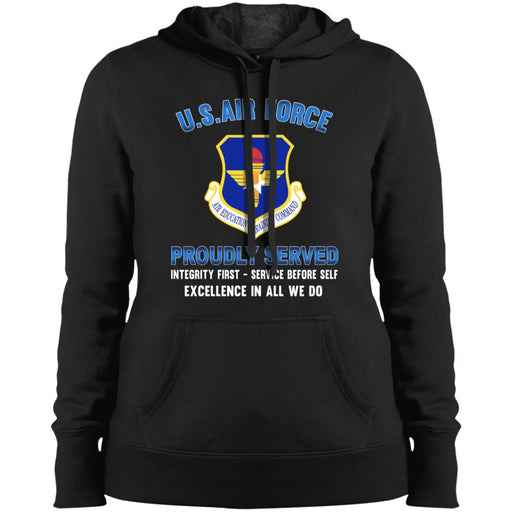 US Air Force Air Education and Training Command Proudly Served Sport-Tek Ladies' Pullover Hooded Sweatshirt