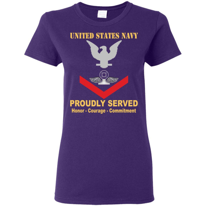 US Navy Air Traffic Controller Navy AC E-4 PO3 Petty Officer Third Class Ladies' T-Shirt