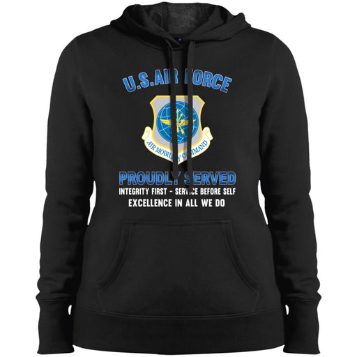 US Air Force Air Mobility Command Proudly Served Sport-Tek Ladies' Pullover Hooded Sweatshirt