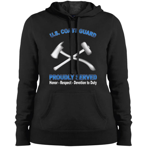 US Coast Guard Damage Controlman DC Proudly Served Sport-Tek Ladies' Pullover Hooded Sweatshirt
