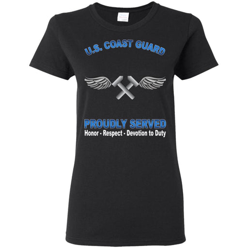 US Coast Guard Aviation Metalsmith AM Proudly Served Ladies' T-Shirt