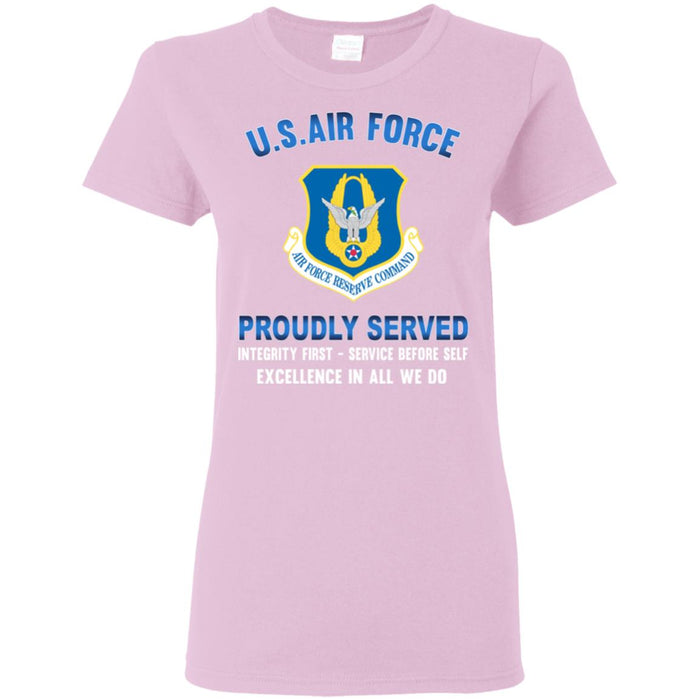 US Air Force Reserve Command Proudly Served Ladies' T-Shirt