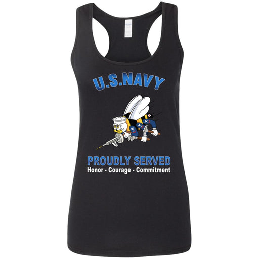 US Navy Seabees Proudly Served Ladies' Tank Tops