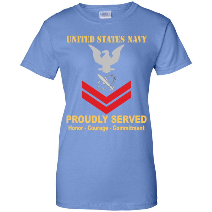 US Navy Missile Technician Navy MT E-5 PO2 Petty Officer Second Class Ladies' T-Shirt