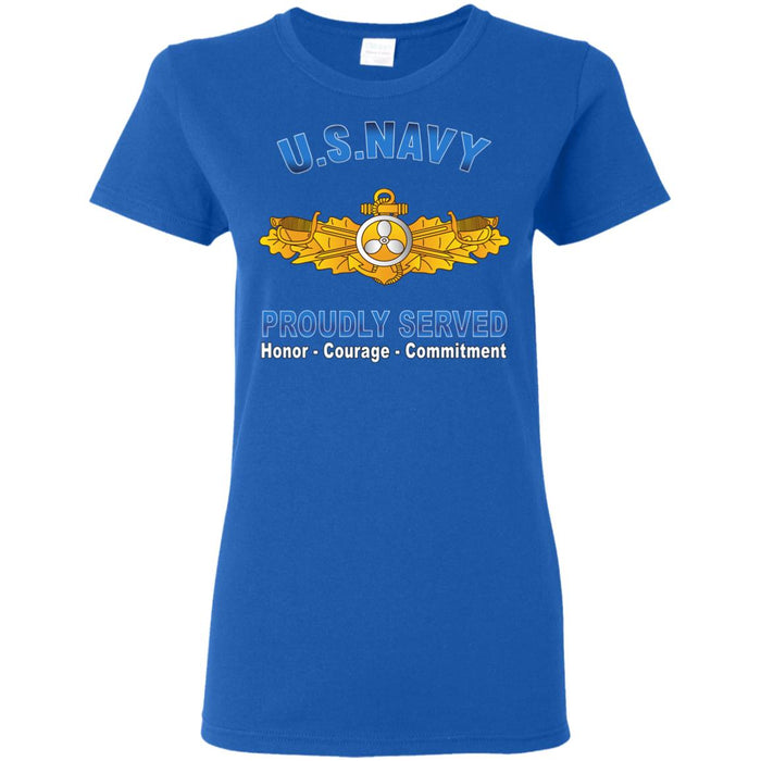 US Navy Engineering Duty Officer Proudly Served Ladies' T-Shirt