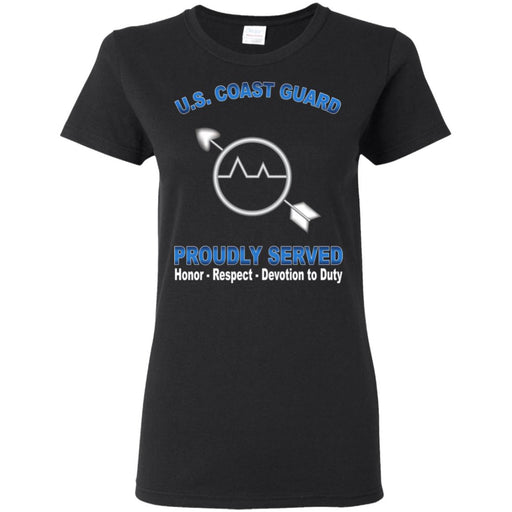 US Coast Guard Operations Specialist OS Proudly Served Ladies' T-Shirt