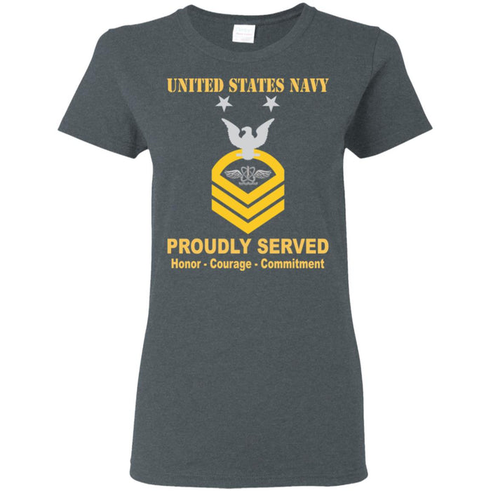 US Navy Naval aircrewman Navy AW E-9 MCPO Master Chief Petty Officer Ladies' T-Shirt