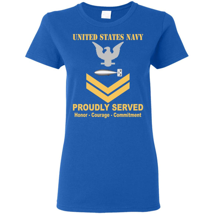 US Navy Torpedoman's mate Navy TM E-5 Gold Stripe PO2 Petty Officer Second Class Ladies' T-Shirt