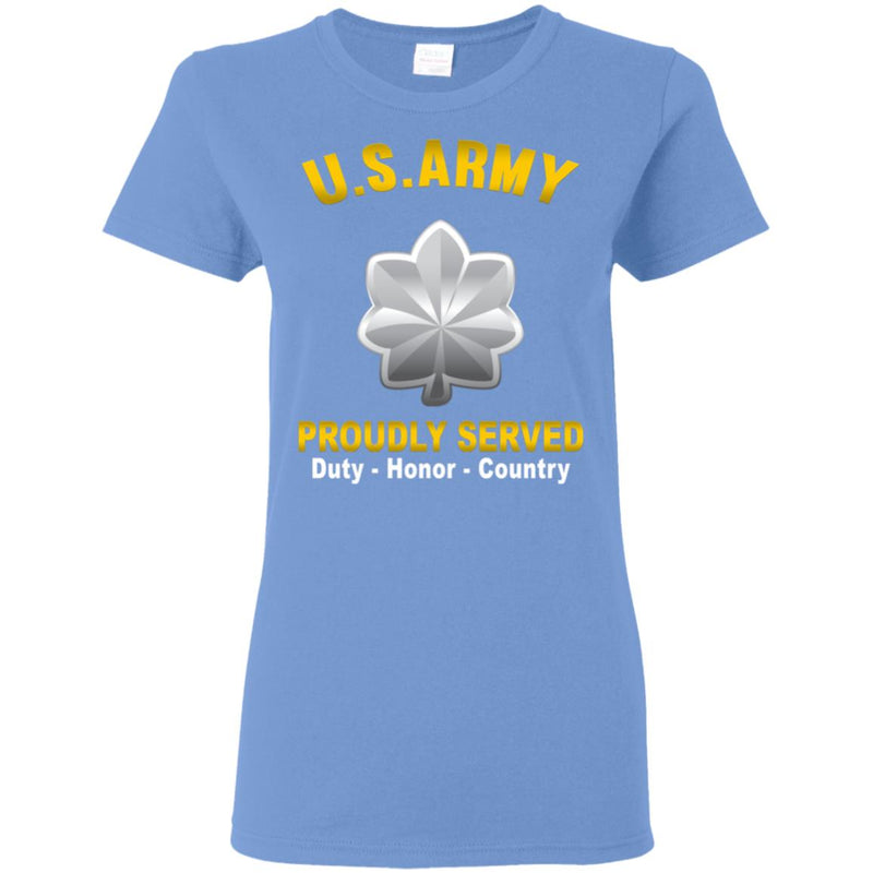 US US Army O-5 Lieutenant Colonel O5 LTC Field Officer  Proudly Served Ladies' T-Shirt