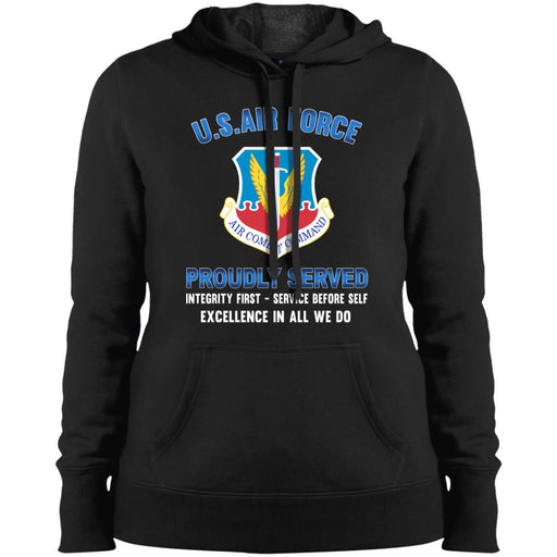 US Air Force Air Combat Command Proudly Served Sport-Tek Ladies' Pullover Hooded Sweatshirt