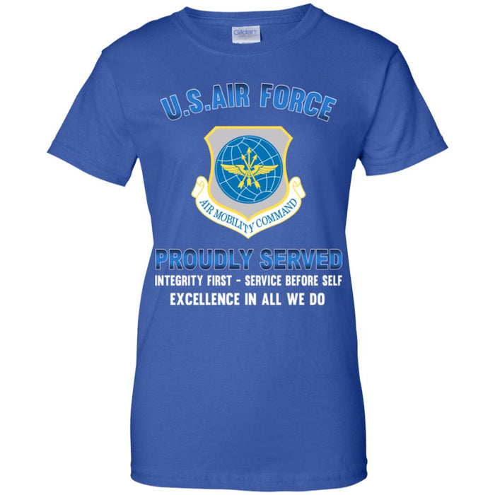 US Air Force Air Mobility Command Proudly Served Ladies' T-Shirt