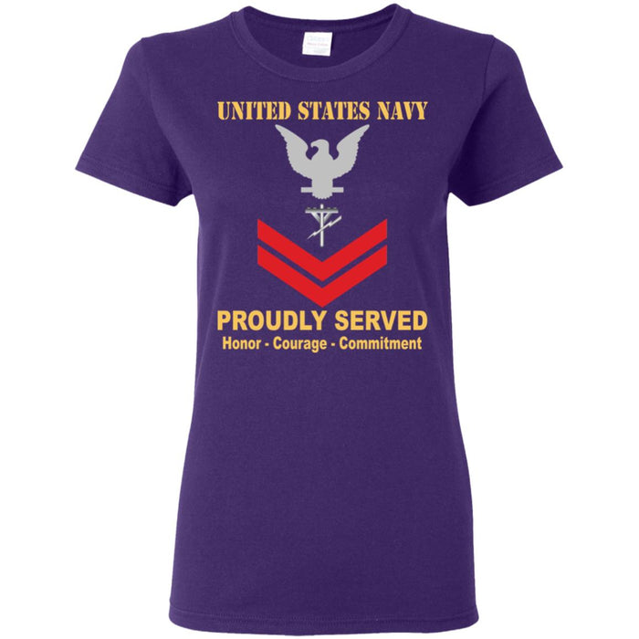 US Navy Construction Electrician Navy CE E-5 PO2 Petty Officer Second Class Ladies' T-Shirt