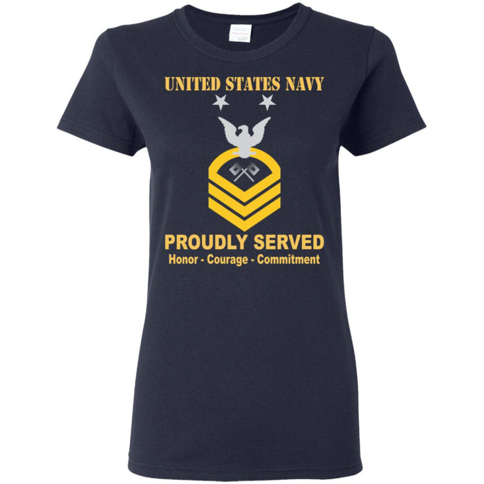 US Navy Signalman Navy SN E-9 MCPO Master Chief Petty Officer Ladies' T-Shirt