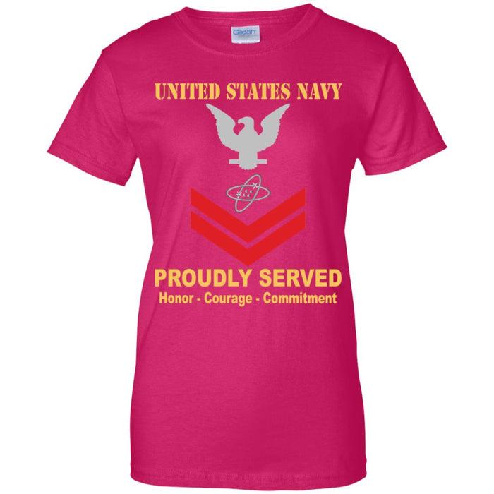 US Navy Electronics technician Navy ET E-5 PO2 Petty Officer Second Class Ladies' T-Shirt