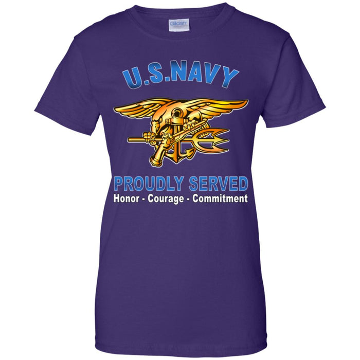 US Navy Special Warfare Proudly Served Ladies' T-Shirt