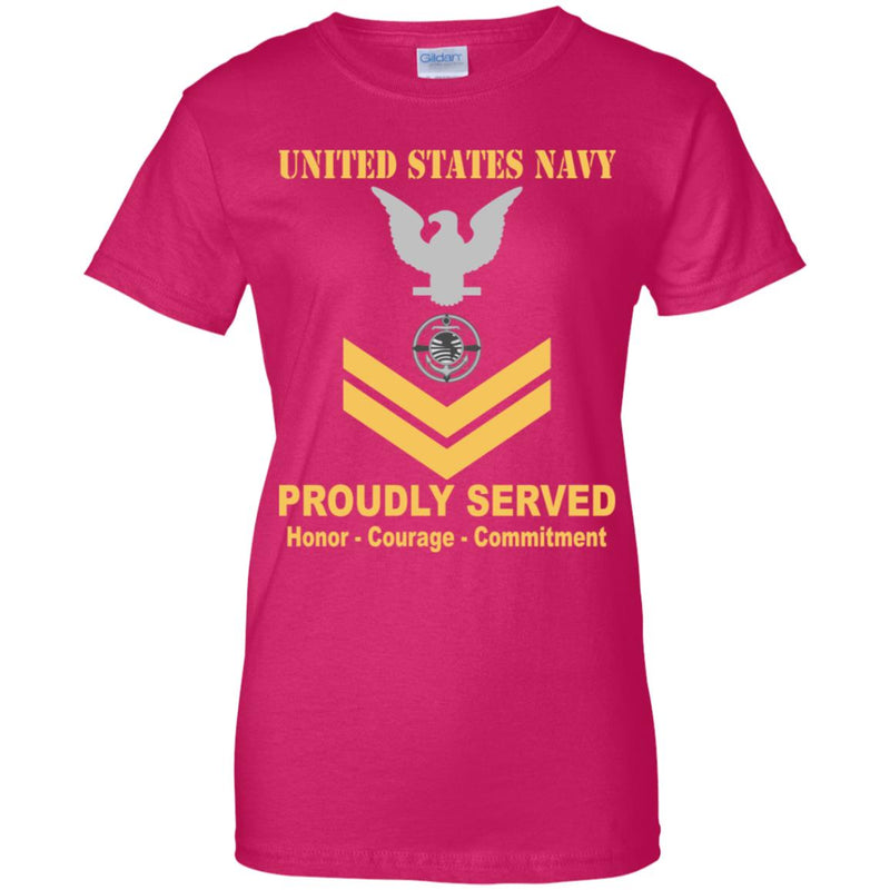 US Navy Religious Program Specialist Navy RP E-5 Gold Stripe PO2 Petty Officer Second Class Ladies' T-Shirt