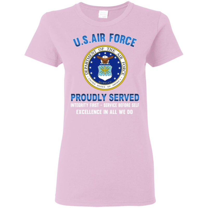 US Air Force Eagle Logo Proudly Served Ladies' T-Shirt