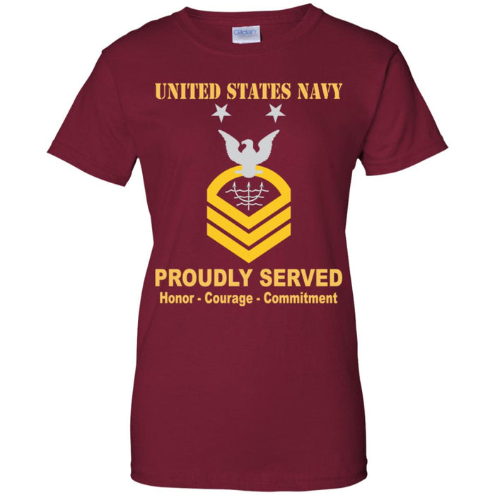 US Navy Ocean Systems Technician Navy OT E-9 MCPO Master Chief Petty Officer Ladies' T-Shirt