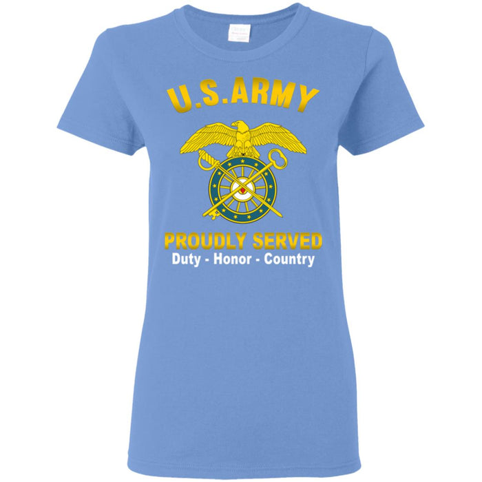 US Army Quartermaster Corps Proudly Served Ladies' T-Shirt