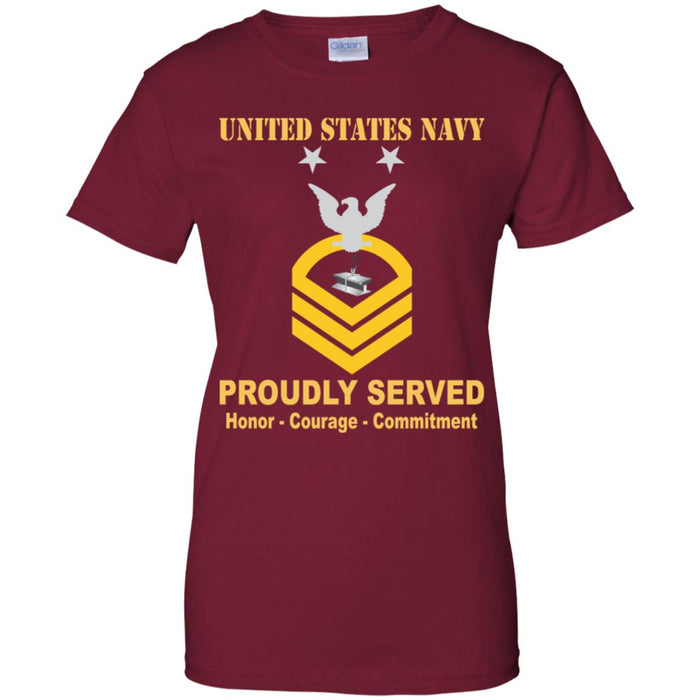 US Navy Steelworker Navy SW E-9 MCPO Master Chief Petty Officer Ladies' T-Shirt