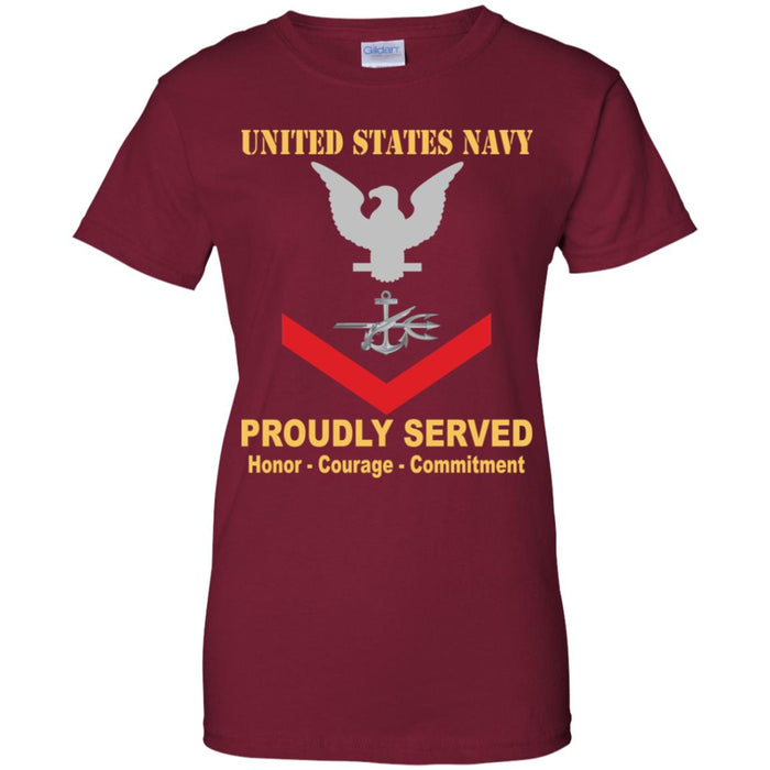 US Navy Special Warfare Operator Navy SO E-4 PO3 Petty Officer Third Class Ladies' T-Shirt