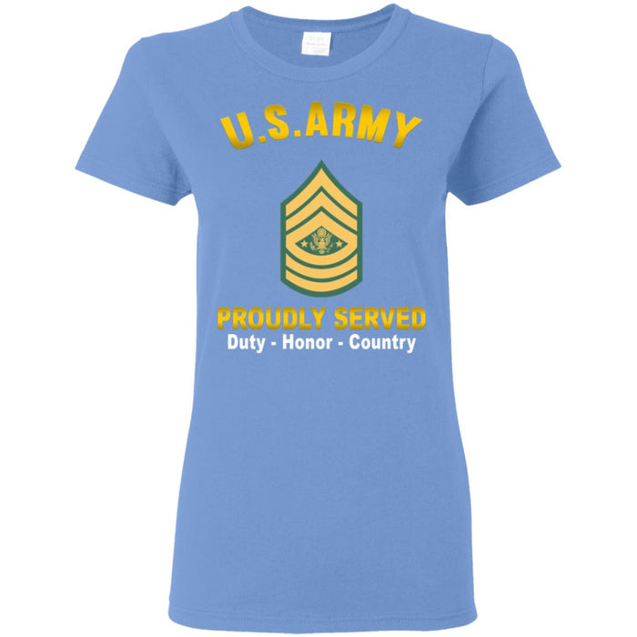 US US Army E-9 Sergeant Major of the Army E9 SMA Noncommissioned Officer Proudly Served Ladies' T-Shirt