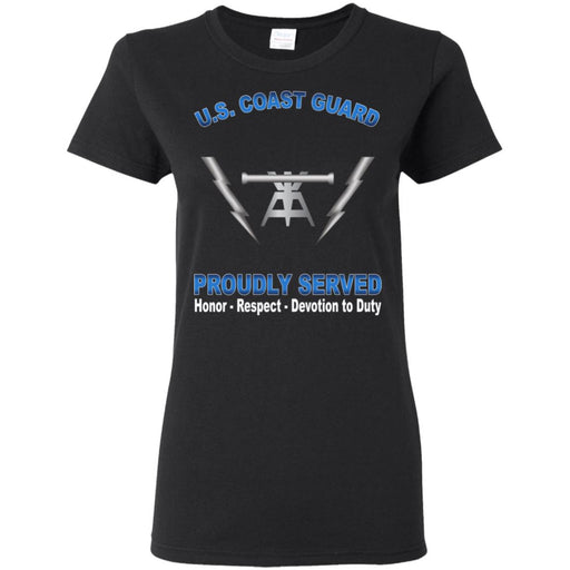 US Coast Guard Fire Control Technician FT Proudly Served Ladies' T-Shirt