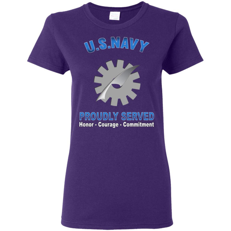 US Navy Data Processing Technician Navy DP Proudly Served Core Values Ladies' T-Shirt