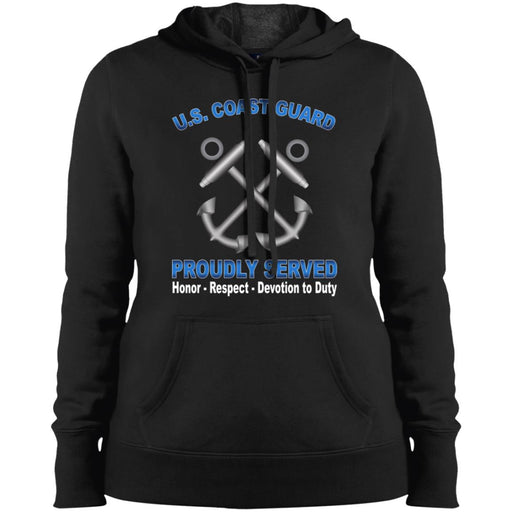 US Coast Guard Boatswains Mate BM Proudly Served Sport-Tek Ladies' Pullover Hooded Sweatshirt