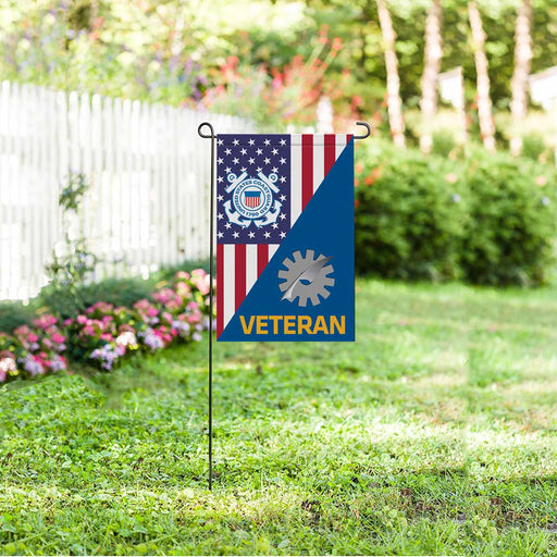 US Coast Guard Data Processing Technician DP Veteran Garden Flag 12'' x 18'' Twin-Side Printing