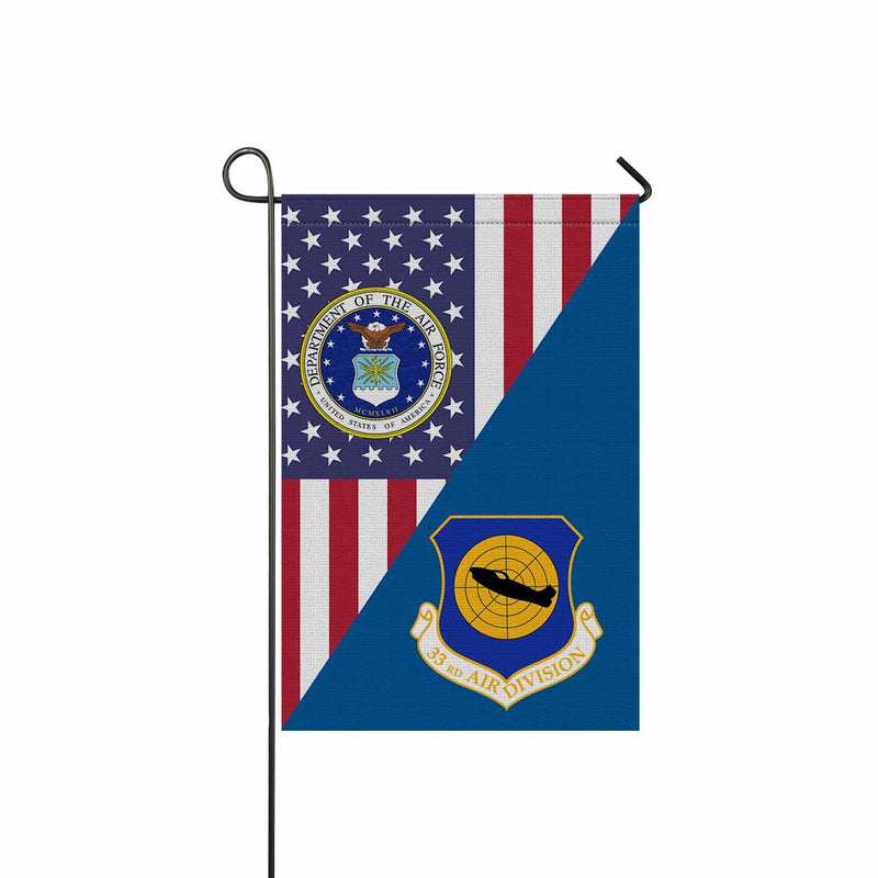 US Air Force 33d Air Division Garden Flag 12'' x 18'' Twin-Side Printing