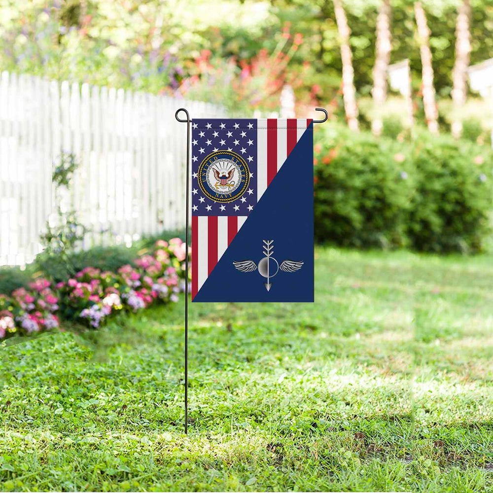 Navy Aerographers Mate Navy AG Garden Flag 12'' x 18'' Twin-Side Printing
