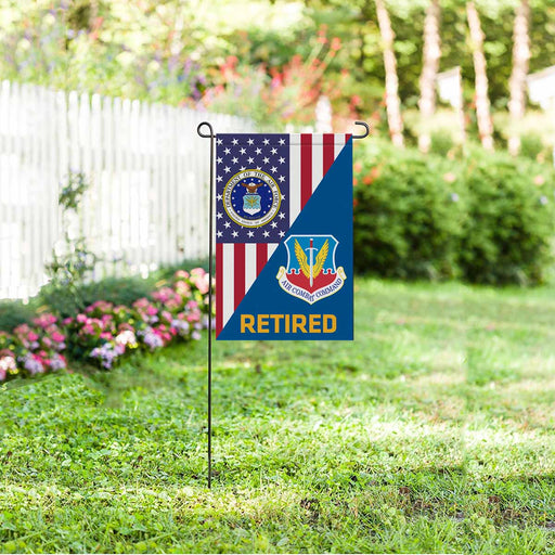 US Air Force Air Combat Command  Retired Garden Flag 12'' x 18'' Twin-Side Printing