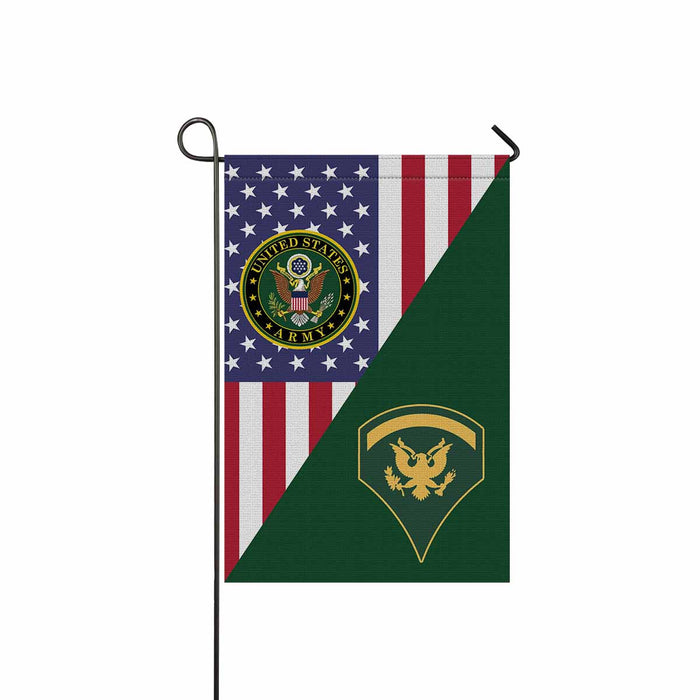 US Army E-5 SPC E5 SP5 Specialist 5 Specialist 2nd Class Garden Flag 12'' x 18'' Twin-Side Printing