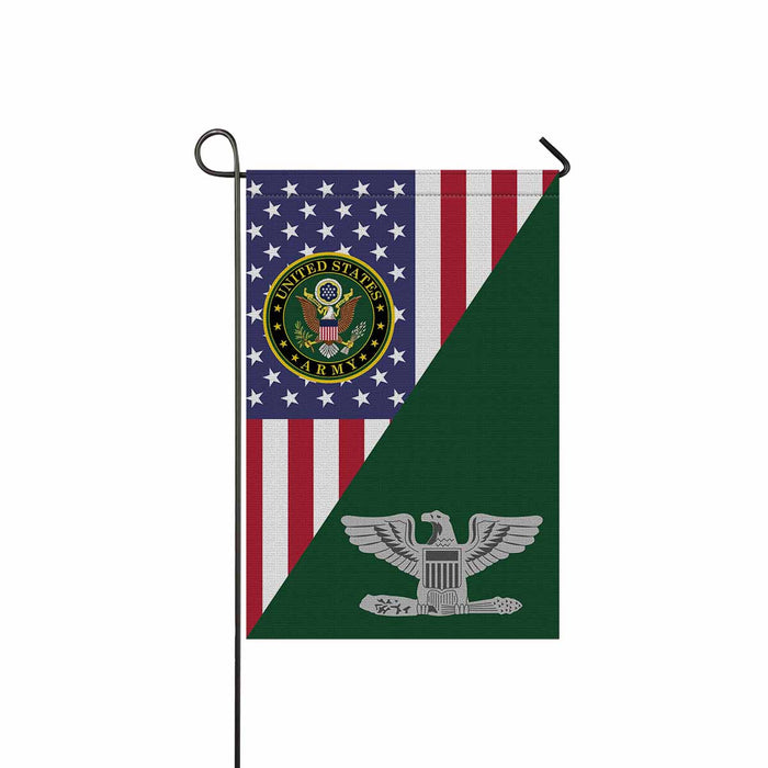US Army O-6 Colonel O6 COL Field Officer Garden Flag 12'' x 18'' Twin-Side Printing