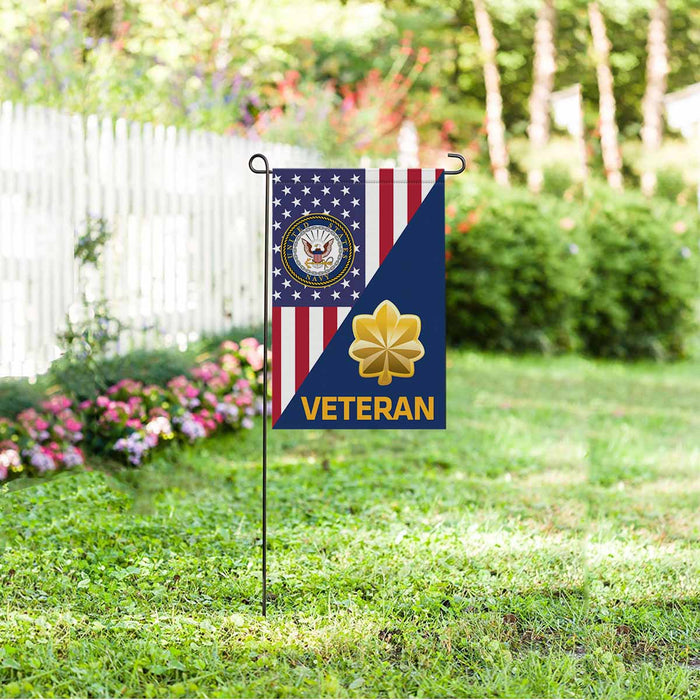US Navy O-4 Lieutenant Commander O4 LCDR Junior Officer Veteran Garden Flag 12'' x 18'' Twin-Side Printing