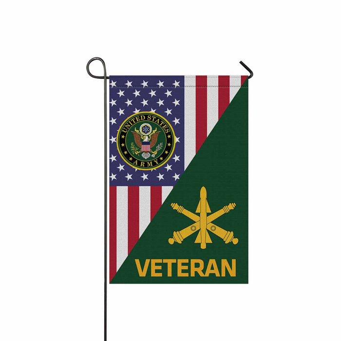 US Army Air Defense Artillery Veteran Garden Flag 12 Inch x 18 Inch Twin-Side Printing