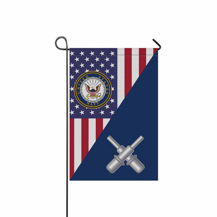 U.S Navy Gunner's mate Navy GM Garden Flag 12'' x 18'' Twin-Side Printing