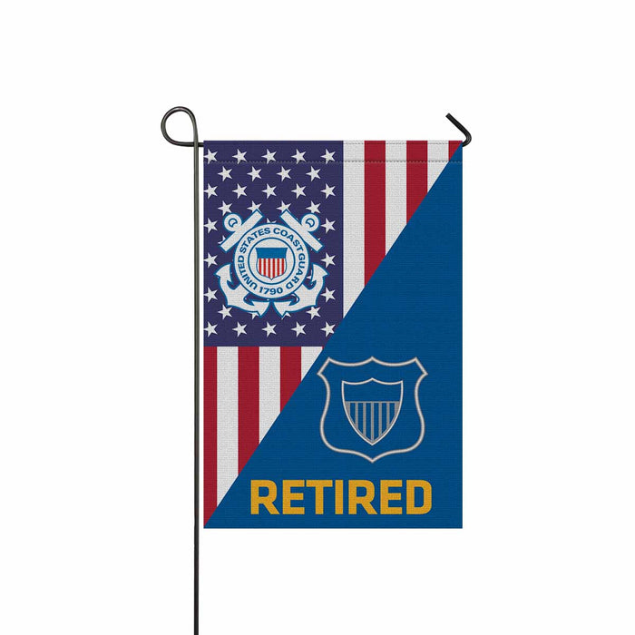 USCG MARITIME ENFORCEMENT ME Retired Garden Flag 12'' x 18'' Twin-Side Printing