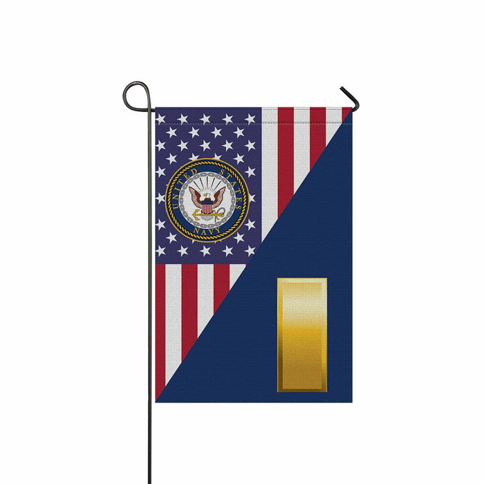 US Navy O-1 Ensign O1 ENS Junior Officer Garden Flag 12'' x 18'' Twin-Side Printing