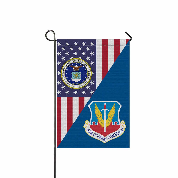 US Air Force Air Combat Command Garden Flag 12'' x 18'' Twin-Side Printing