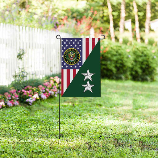 US Army O-8 Major General O8 MG General Officer Garden Flag 12'' x 18'' Twin-Side Printing