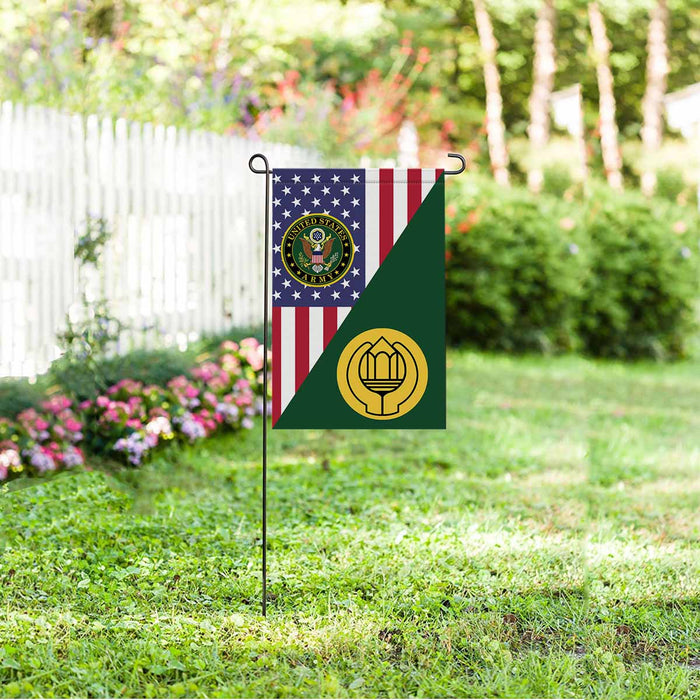 US Army Chaplain Assistant Garden Flag 12 Inch x 18 Inch Twin-Side Printing