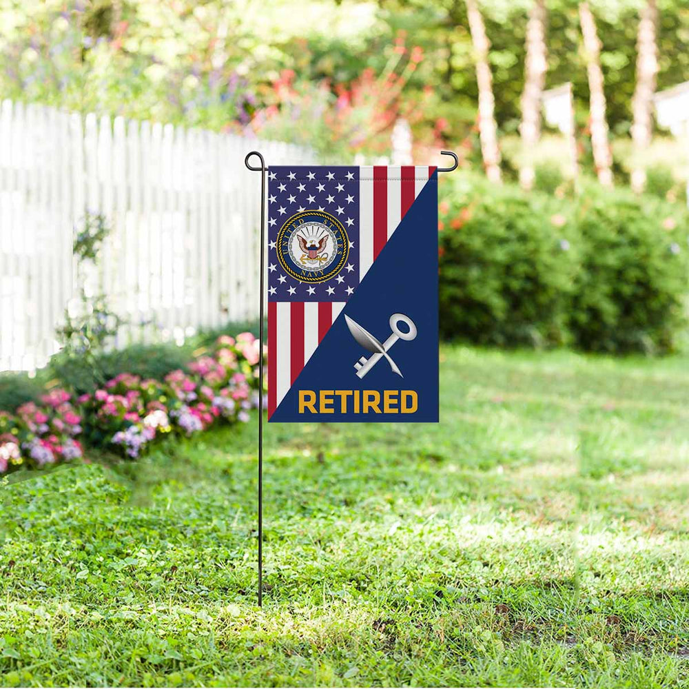 Navy Ship's Serviceman Navy SH Retired Garden Flag 12'' x 18'' Twin-Side Printing