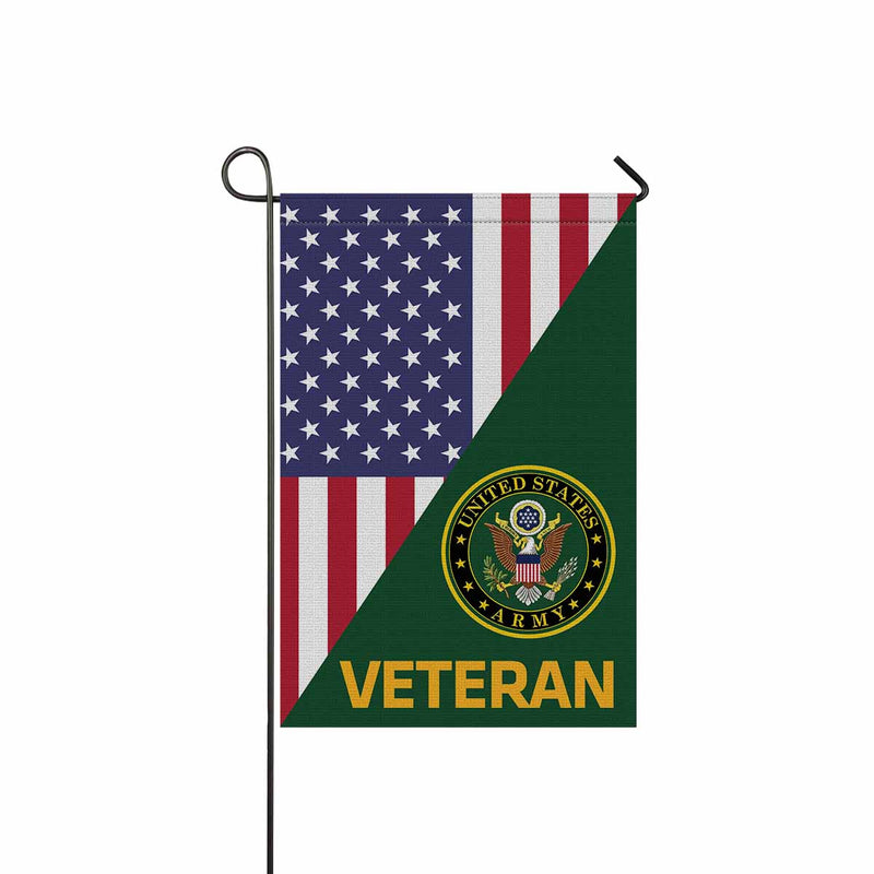 US Army Eagle Veteran Garden Flag 12'' x 18'' Twin-Side Printing