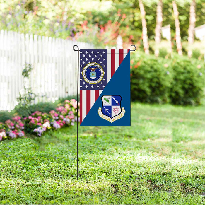 US Air Force 14th Air Division Garden Flag 12'' x 18'' Twin-Side Printing
