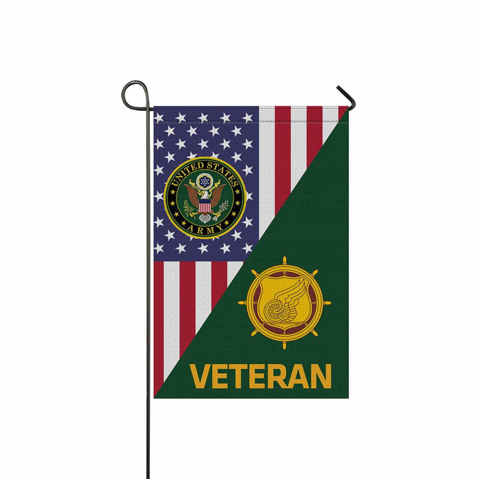 U.S. Army Transportation Corps Veteran Garden Flag 12 Inch x 18 Inch Twin-Side Printing
