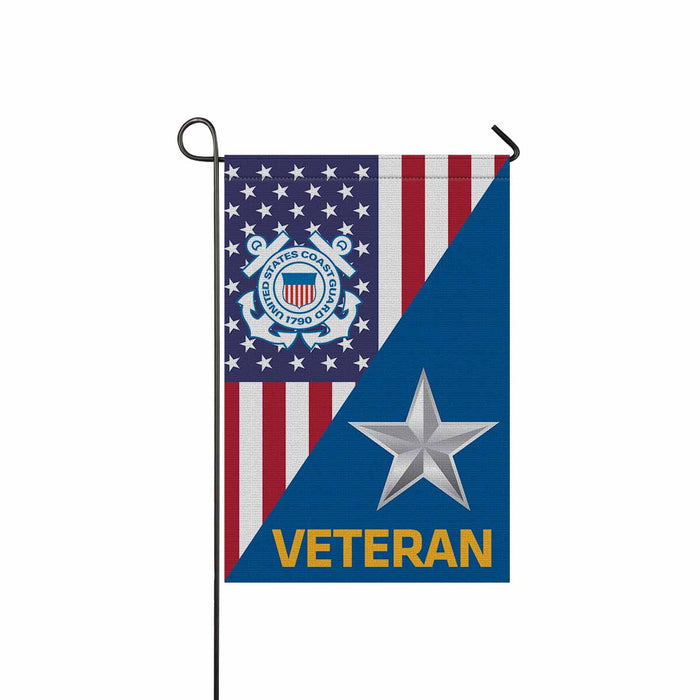 US Coast Guard O-7 Rear Admiral Lower Half O7 DRML Flag Officer Ranks Veteran  Garden Flag 12'' x 18'' Twin-Side Printing