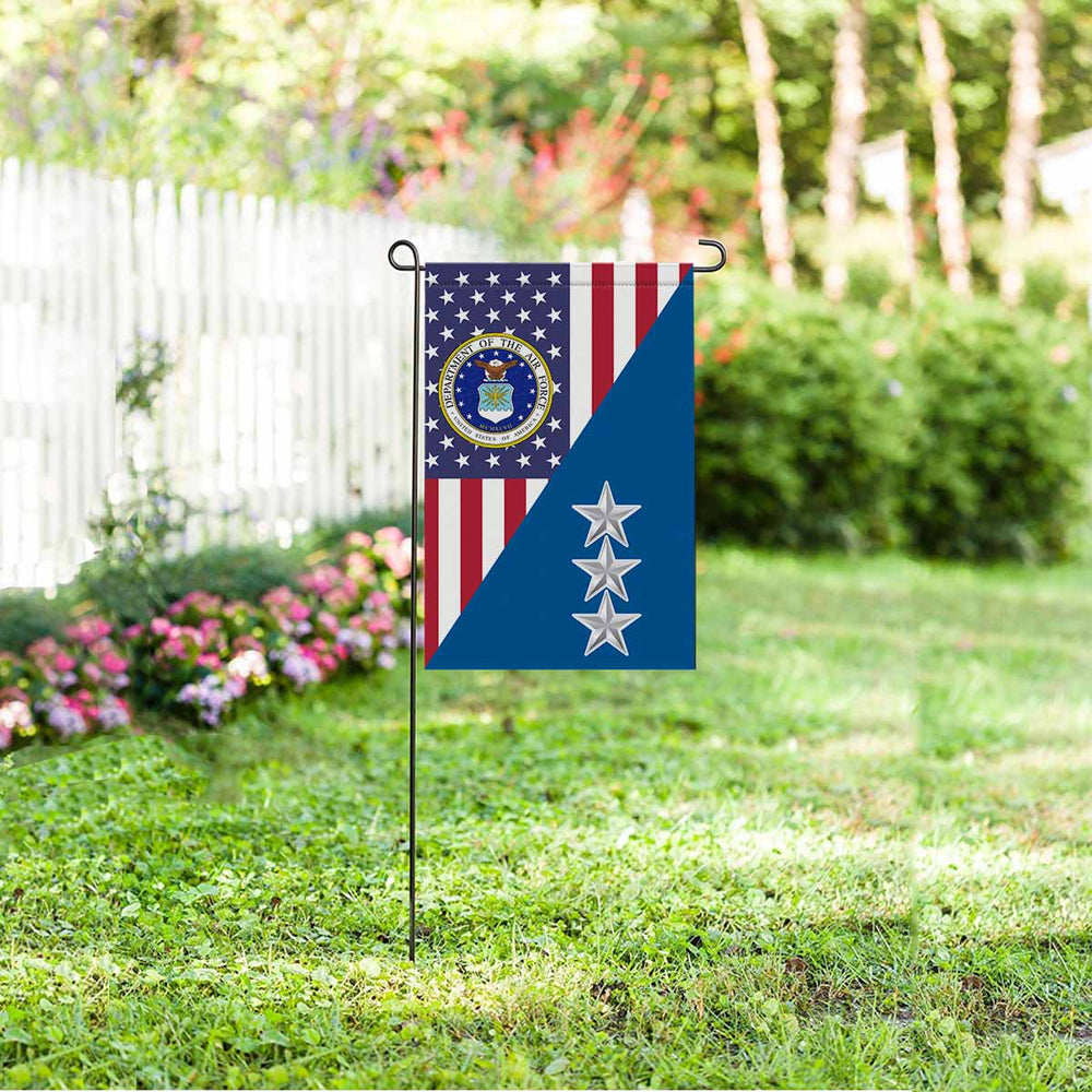 US Air Force O-9 Lieutenant General Lt Ge O9 General Officer Ranks Garden Flag 12'' x 18'' Twin-Side Printing