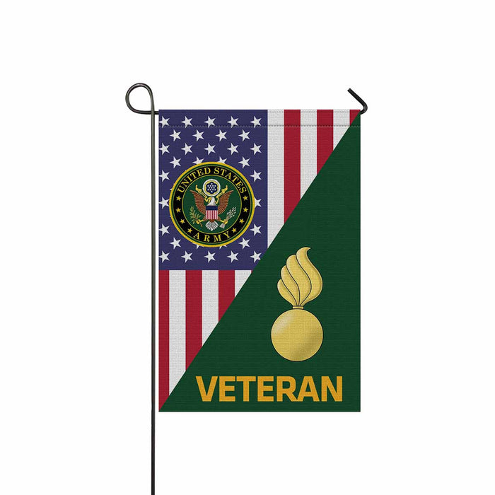 US Army Ordnance Corps Veteran Garden Flag 12 Inch x 18 Inch Twin-Side Printing